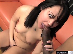 Tina Lee screwed by a massive ebony hard-on