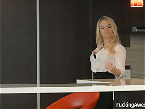 drilling incredible -Alexis Monroe gets caught jerking
