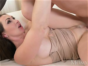 mommy giant knockers black-haired Aussie mummy takes large man rod