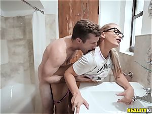 hot bedroom three-way with 2 insane stepsisters