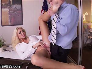 big bra-stuffers Office milf Uses feet to punish employee