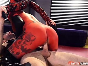 Space parody with super-naughty horned red alien Kleio Valentien
