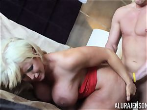 Alura Jenson wedged rock-hard in her MILFY fuckbox