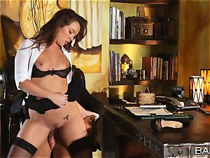 Maddy OReilly is pounded over the desk by the manager