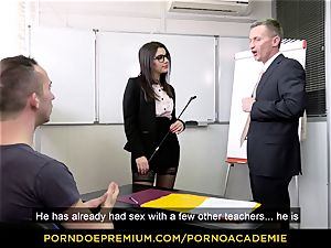 pornography ACADEMIE - instructor Valentina Nappi MMF threesome