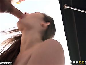female gets her slit pummeled while her hubby is sleeping