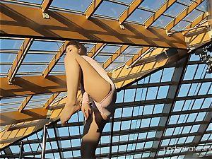 rosy body bikini Roxalana showcasing her pussy