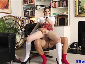 inviting schoolgirl railing old mans penis