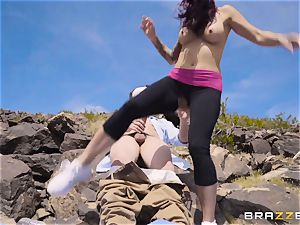 Desert yoga plow with man sausage craving Monique Alexander