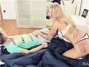 Blondes Kayla Green and Olive Bell share a boner