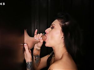 Gloryhole Secrets tatted stunner shows her abilities