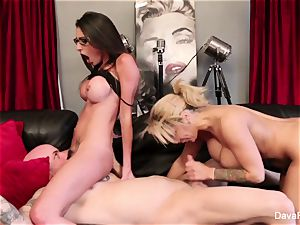 point of view inhaling and pounding with Dava Foxx and Alyssa Lynn