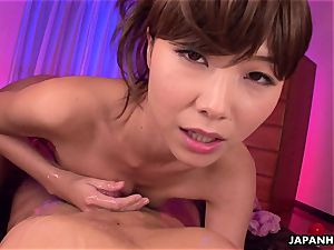 promiscuous asian honey getting her stud off with a rubdown