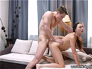 He's so excited by her hottie he could do her all day