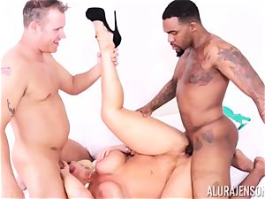 gash wedged Alura Jenson by large black beef whistle and milky guy