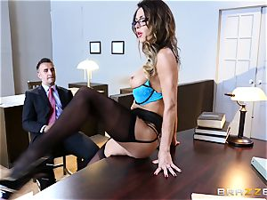 Jessica Jaymes salivates over a lawyers phat pecker