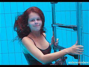clean-shaved cutie Nata Szilva is a mermaid