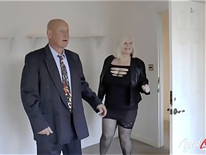 AgedLovE Mature nymph Lacey Starr sucking hard fuckpole