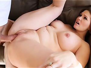 drunk huge-boobed babe Allison Moore tempts a stranger stud