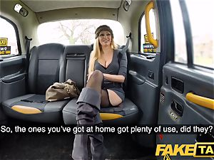 fake taxi chesty blonde milf Amber Jayne sucks and penetrates