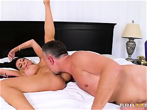 Dissolute bitch-wife seduces her neighbor while her hubby is sick in bed