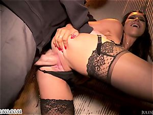 Romi Rain - incredible red-hot first-timer pornography in the street
