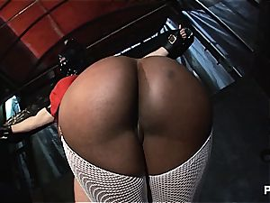 Upside down puss gobbling