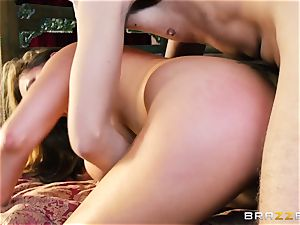 Kianna Dior catches her step daughter boinking a british boy and steps in
