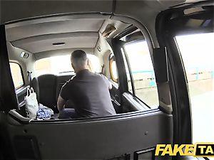 fake cab puny blondie with big fun bags gets sloppy