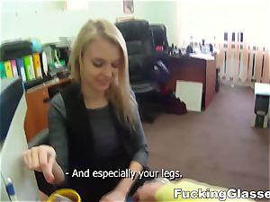 boinking Glasses Chloe Blue porking job interview