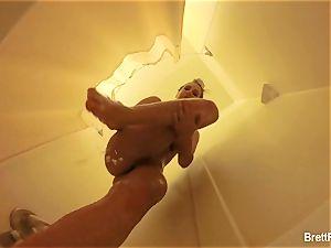 spectacular blondie Brett Rossi takes a nice bathroom
