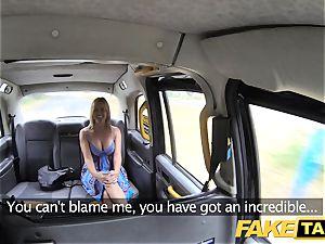 fake taxi Mum with natural titties gets phat brit salami