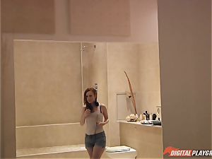 kinky babe Ella Hughes caught house squatting but is then boinked to pay off what she has done
