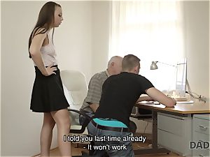 DADDY4K. father and youthfull gal super-fucking-hot intercourse in couch culminates with creampie