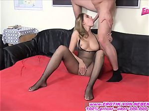 German successful fellow penetrate real superstar at his home intimate