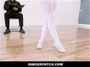 GingerPatch - ginger-haired Ballerina riding Judges humungous beef whistle