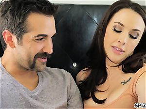 Spizoo - see Chanel Preston inhaling and tearing up