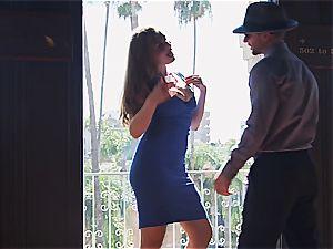 stunning female Lena Paul penetrating her guy