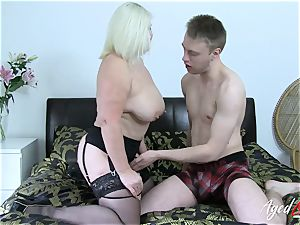 AgedLovE huge-titted Mature Lacey Starr hardcore lover