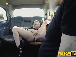 faux cab blonde cougar Victoria Summers humped in a taxi