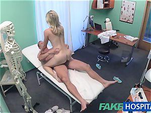 FakeHospital adorable platinum-blonde patient gets beaver examination