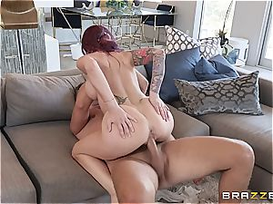 big-titted cougar loves to get crazy with the help of her valet