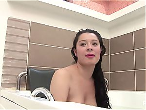 first-timer Latina wants her own porn