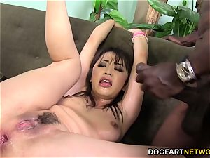 Marica Hase squirts while DP'd by dark-hued knobs