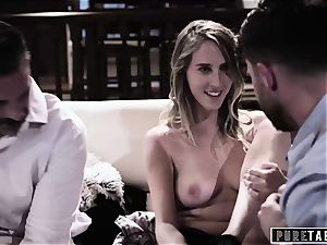 pure TABOO honey Tricked Into vengeance 3some with Strangers
