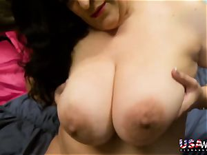 USAwives mischievous Mature Solo toys getting off
