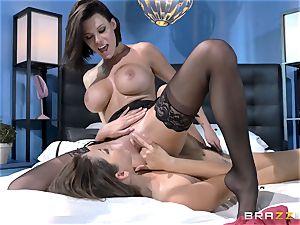 Peta Jensen and Allie Haze having red-hot naughty girl-on-girl bang-out