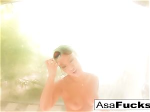 Asa Akira takes a super-hot douche