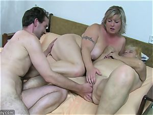 OldNanny grandma and mature wanked unshaved vag
