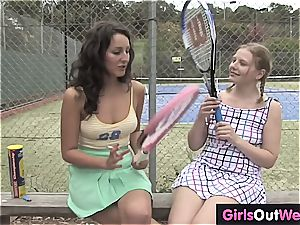 doll tennis coach nasty for her player's taut beaver